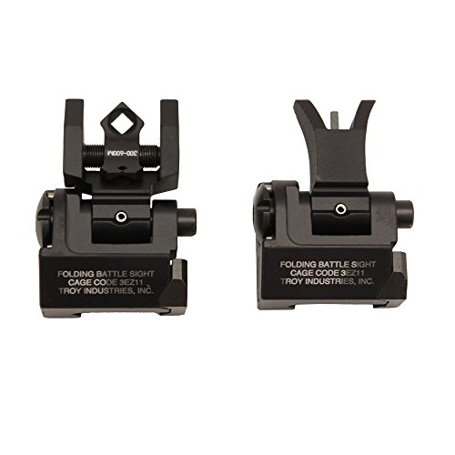 (Troy Industries Micro M4 Style Front and DOA Rear Folding Battle Sight (Black))