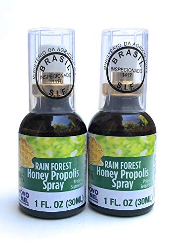 Brazilian Green Bee Propolis and Rain Forest Honey Oral Spray, 2 bottle pack ()