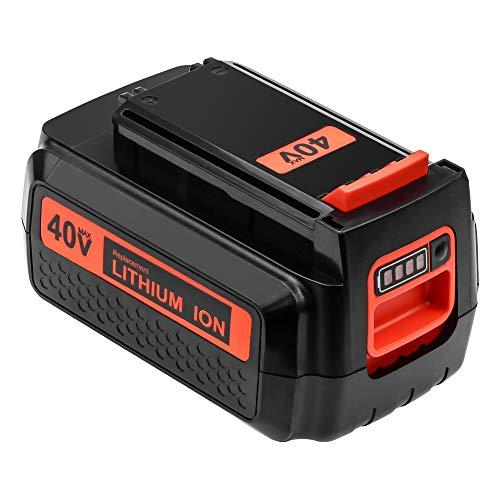 40 Volt 2500mAh LBXR2036 Replacement for Black and Decker 40V Lithium Battery Max LBX2040 LBXR36 LBX36 LBXR2040 Cordless Power Tools