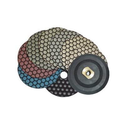 "4"" Monster Dry Diamond Polishing Pads Set of 8 pcs with Free Back Holder: Home Improvement"