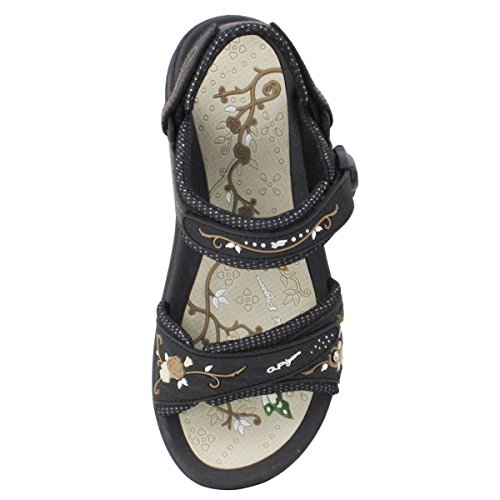 Easy Magnetic Lock 5 8 Snap Comfort Closure Pigeon 4 5 Light GP5974W 8 Gold 4 Size Beige Platform Sandals Black Weight Size fFAqwWY
