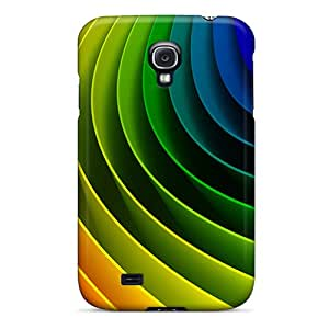 Hot Tpye Rainbow Curve Case Cover For Galaxy S4