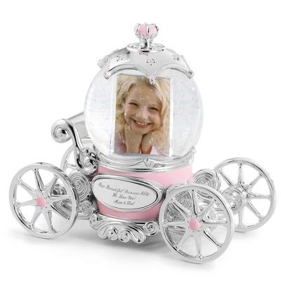 (Things Remembered Personalized Princess Carriage Musical Photo Snow Globe with Engraving Included)