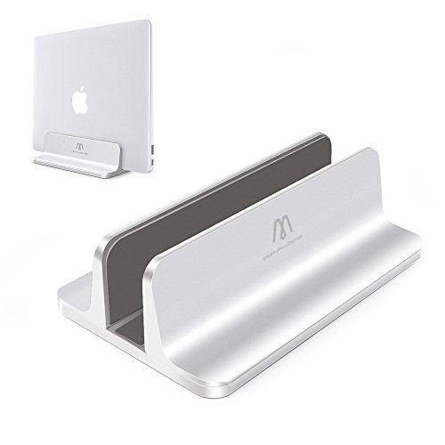 Vertical Laptop Stand, APPHOME Aluminum Adjustable Desktop Holder Space-saving for APPLE Notebooks Macbook Pro / Air
