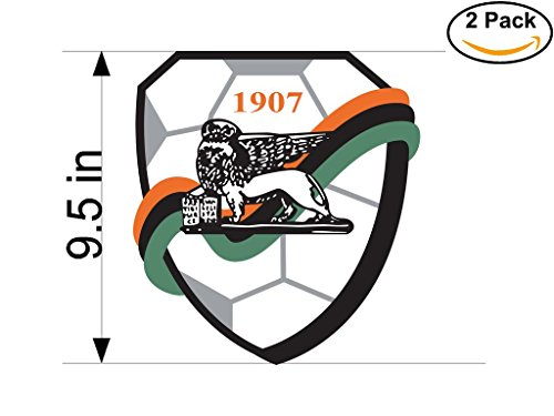 AC Venezia 1907 Italy Soccer Football Club FC 2 Stickers Car Bumper Window Sticker Decal Huge 9.5 inches by CanvasByLam