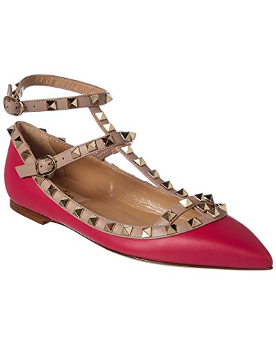 VALENTINO Rockstud Caged Leather Ballerina Flat, 38, for sale  Delivered anywhere in USA