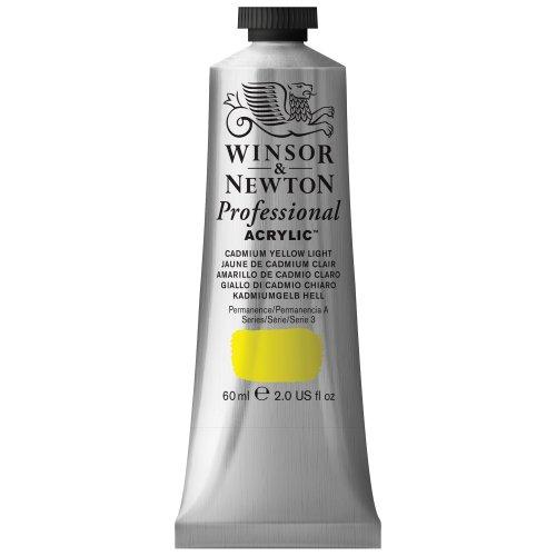 Winsor & Newton Professional Acrylic Color Paint, 60ml Tube, Cadmium Yellow Light