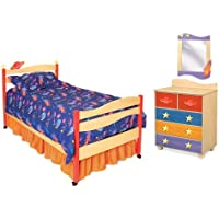Room Magic Star Rocket 5 Piece Bedroom Set, Natural