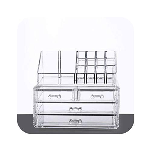 Crystal Jewelry Box with Plastic Drawer Makeup Organizer Container Cosmetic Lipstick Holder Casket Finishing case,I (Best Word To Html Converter)