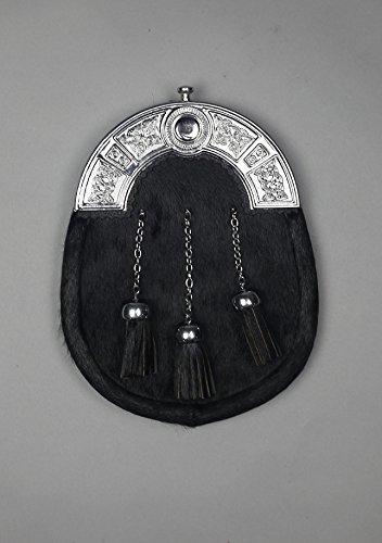 Kilt Society Mens 7 Piece Full Dress Kilt Outfit- Ramsay Blue Tartan with Black Hose 42'' to 46'' by Kilt Society (Image #2)