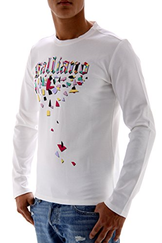 John Galliano–Sudadera para hombre blanco