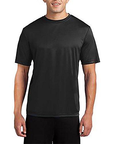 Tall Moisture Wicking Athletic T Shirt (3X Tall, Black) (Big Tall T-shirt)