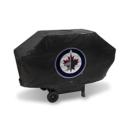 NHL Winnipeg Jets Deluxe Grill Cover, Black, 68 x 21 x 35""