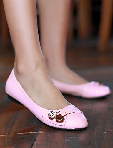 Pdx Décontracté rose blanc Noir Rond Appartements Talon Similicuir Eu39 Uk6 Bout Plat Pink En Chaussures femme Cn39 vert us8 rouge rS7zrR