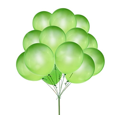 10 Olive Drab (UTOPP 100 pcs Light Green Balloons 12 Inches Thick Latex Helium Balloons 9.88 Oz/bag for St Patricks Day Carnival Festival Birthday Party)