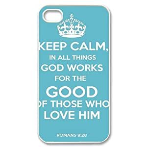 Bible Quote Love Roman 8 28 Bible Verse Jesus Christianity God Gospel Case For iPhone 4/4s White by ruishername