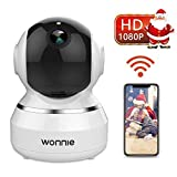WONNIE Wireless IP Camera 1080P, WiFi Home Surveillance Security Camera for Baby/Elder/Pet/Nanny Monitor, Pan/Tilt, Two-Way Audio & Night Vision(White)