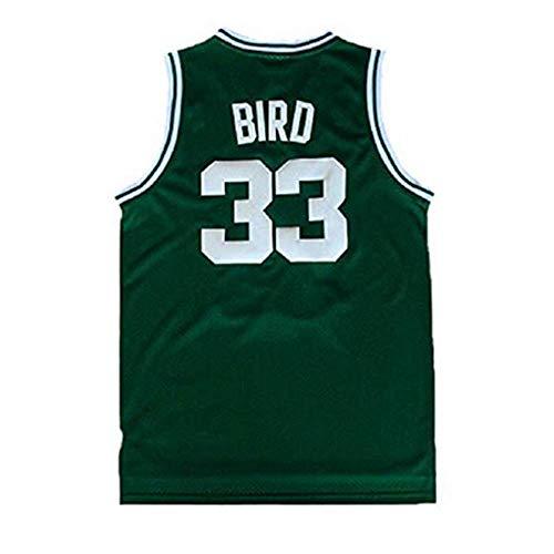 Youth Bird Jersey Kid's 33 Basketball Jerseys Larry Boy's Jersey Green(S-XL) (XL)