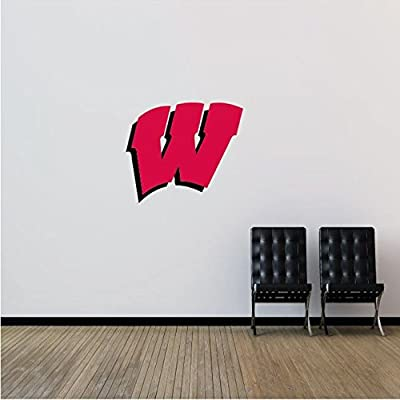 "Wisconsin Badgers NCAA USA Logo College Sport Art Wall Decor Sticker 25"" x 22"""