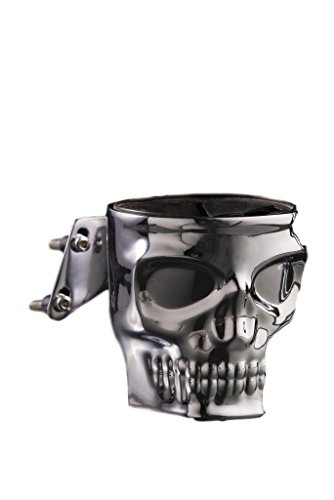 Kruzer Kustom Kaddy Chrome Skull Motorcycle Cup ()