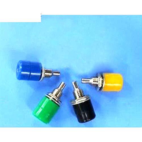 (30Pcs 4mm Multimeter Instrument Binding Post Banana Socket Nickel Plated RCA Jack Panel Mount Chassis Socket Connector Panel)