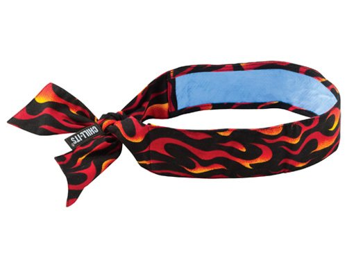 Flame Bandana (Chill-Its 6700CT Evaporative Cooling Bandana - Tie Closure, Flames)