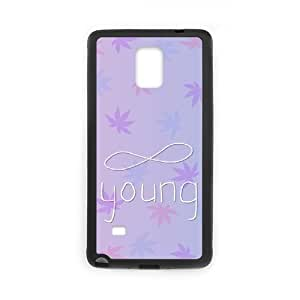 Custom Hard Plastic Back Case Cover for Samsung Galaxy Note 4 with Unique Design Infinite Young BY RANDLE FRICK by heywan