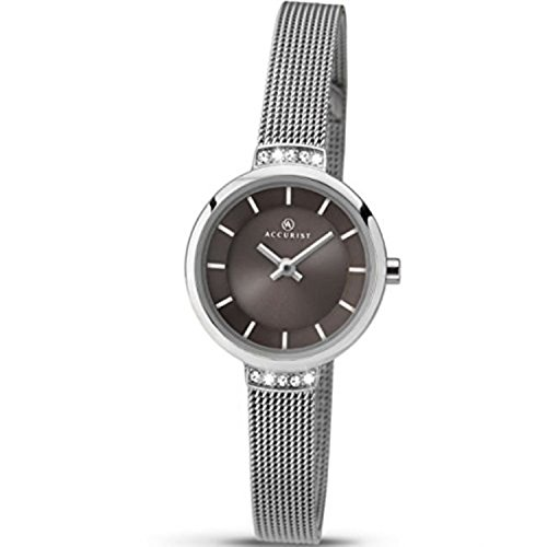 Ladies Accurist Stainless Steel Watch 8090