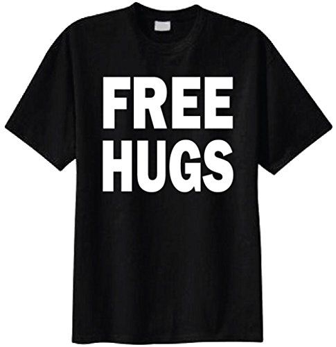 - Superb Selection Free Hugs T-shirt (Large, Black)