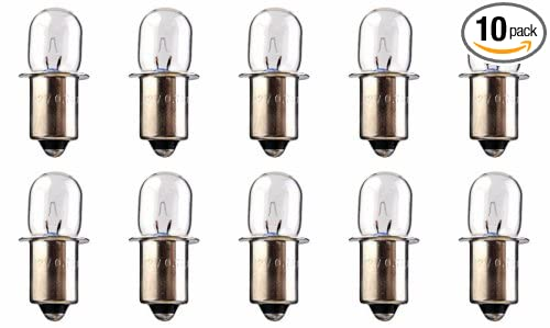 18 Volt Light Bulb: 10 Pack XPR18 - Xenon Miniature Indicator Bulb - 18 Volt - 0.6 Amp - B3,Lighting