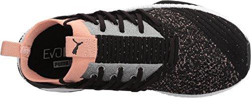 PUMA Women's Tsugi Jun WN's Sneaker, Black-Peach Beige White, 6.5 M US