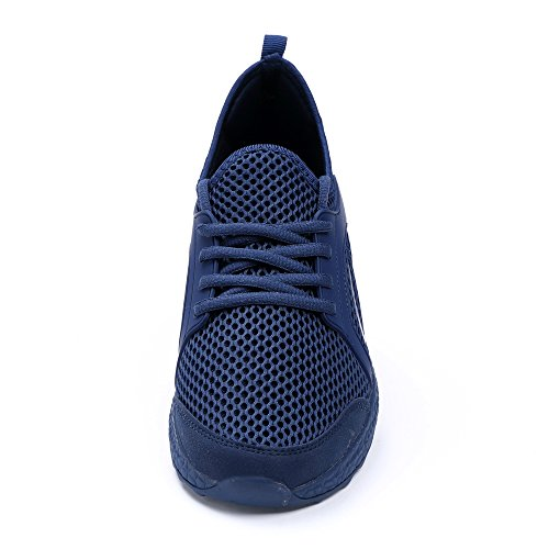 Mxson Männer Casual Turnschuhe Ultra Leichte Atmungsaktive Mesh Sport Laufschuhe Blau