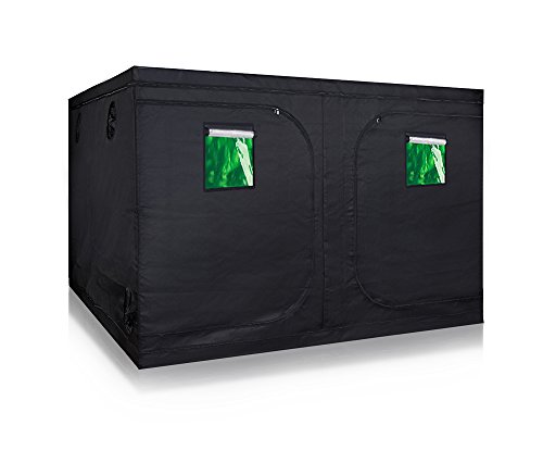 TopoGrow Super Big 120'x120'x78' Grow Tent 600D High-Reflective Hydroponic Grow Room/Hut System Kit for Plant Growing W/Metal Corners