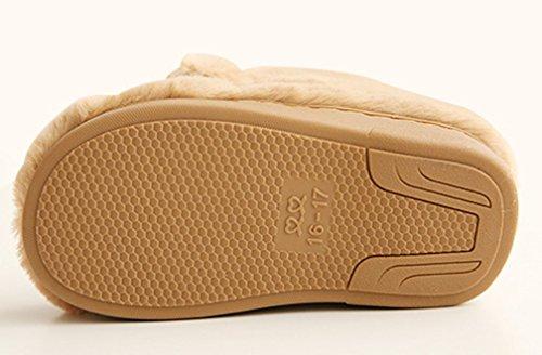 Cattior Womens Fleece Warm Indoor Slippers House Shoes Khaki eV7UG