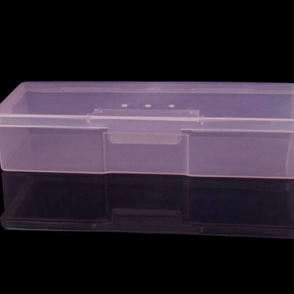 Laileya Outils de manucure en Plastique Transparent Parsemant Stylos Dessin Organisateur Bo/îte de Rangement Ongles Pars/èment Dessin Stylos Tampon Broyage fichiers Organisateur Case conteneur