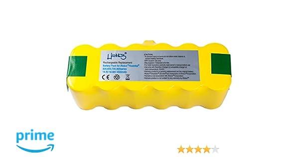 Batería Hannets® compatible con iRobot Roomba 775 I Batería i-Robot Batería Roomba Batería Aspiradora robotizada I Roomba 775 Accesorios 4500mAh Batería ...