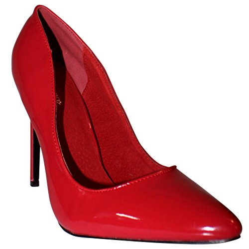 Lack Heels Red Court Women's High Erogance Pumps Shoes qCFzRWn