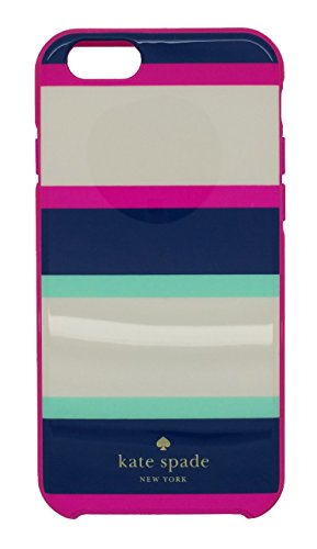Kate Spade New York iPhone 6 & 6s  Case for smaller iPhone with 4.7 screen [Does not fit Larger iPhone 6 Plus with the 5.5 screen] - Multi Stripe Mint/Navy/Cream/Pink