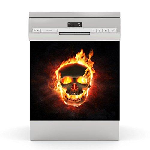 Dishwasher Sticker Skull Fire wodtke-werbetechnik