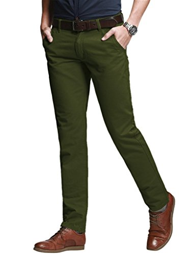 Match Men's Slim Tapered Stretchy Casual Pant (36W x