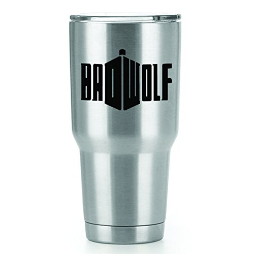 Badwolf Doctor Who Vinyl Decals Stickers ( 2 Pack!!! ) | Yeti Tumbler Cup Ozark Trail RTIC Orca | Decals Only! Cup not Included! | 2 - 3.7 X 2.5 (Dr Who Adipose Costume)