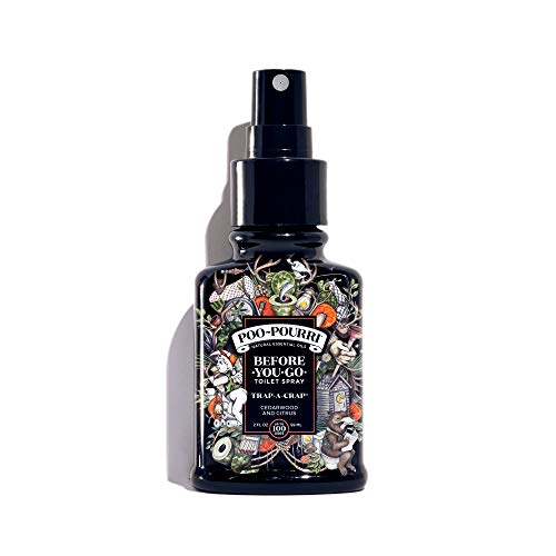 Poo-Pourri Before-You-Go Toilet Spray 2 oz Bottle, Trap-A-Crap Scent