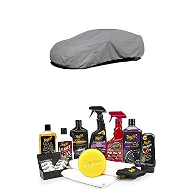 """Budge Lite Car Cover with Meguiar's G55032 Complete Car Care Kit """