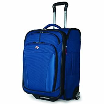 American Tourister Luggage Ilite Dlx 21 InchUpright, Deep Blue, One Size