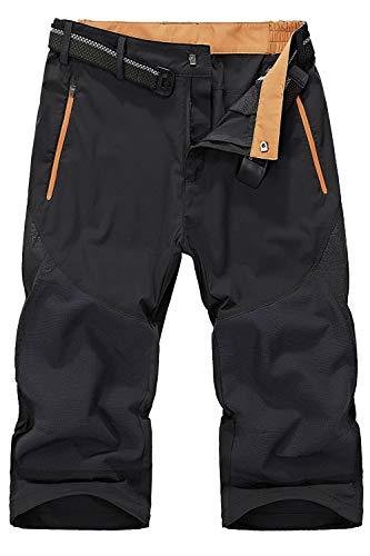 Mr.Stream Mens Classic Bermuda Beach Capri 3/4 Cropped Sweatpants Camping Quick Drying Casual Shorts 3XL Gray