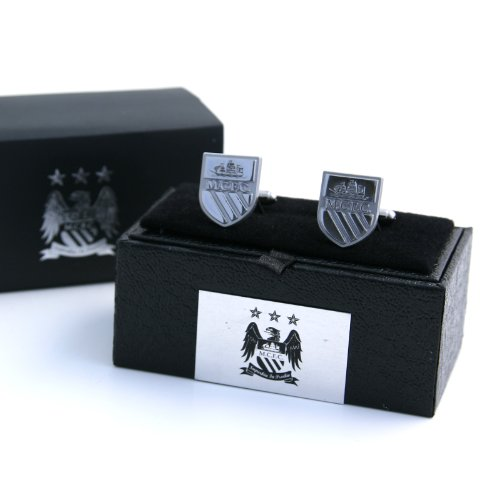 Manchester City Football Club Official Soccer Gift Boxed Chrome Exec. Cufflinks