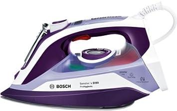 Bosch Sensixx'x DI90 - Plancha (Plancha vapor-seco, Suela Ceranium Glisée Pro, 2,5 m, Violeta, Blanco, 65 g/min, 0,4 L)