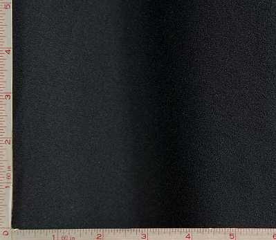 Black 1 Side Interlock Fleece Fabric 2 Way Stretch Polyester 10 Oz 58-60 Fabric and Sewing
