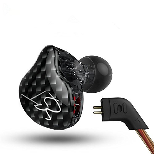 Easy KZ ZST Hybrid Banlance Armature with Dynamic In-ear Earphone 1BA+1DD Hifi Headset (ZST no mic)
