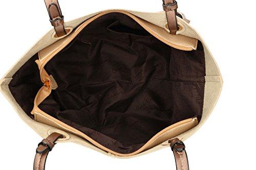 Borsa donna a spalla PIERRE CARDIN beige con apertura zip VN1242